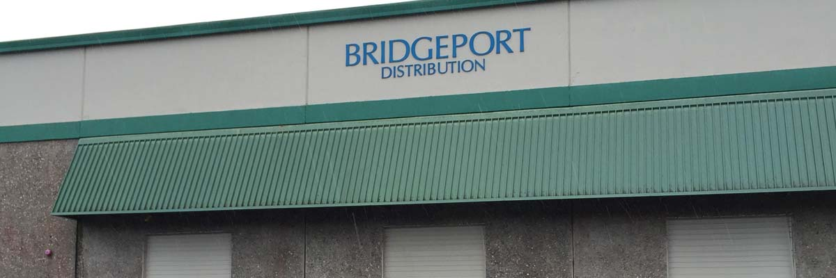 Bridgeport sign and loading bay